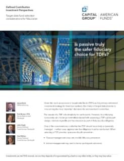 """Defined Contribution Investment Perspectives: """"Target Date Fund"""