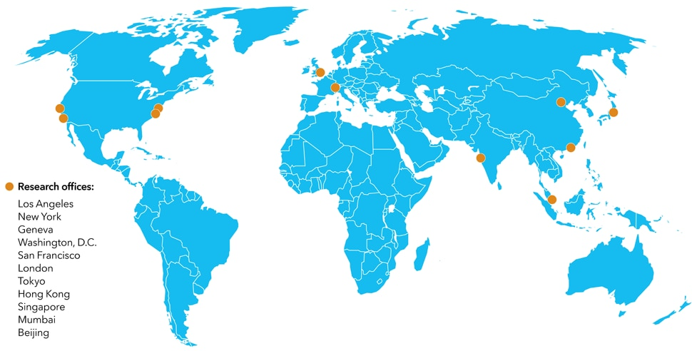 Our Research Presence Extends Around the Globe